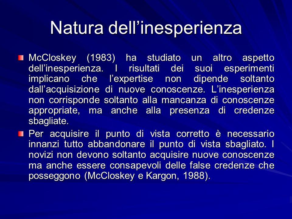 Natura dell'inesperienza