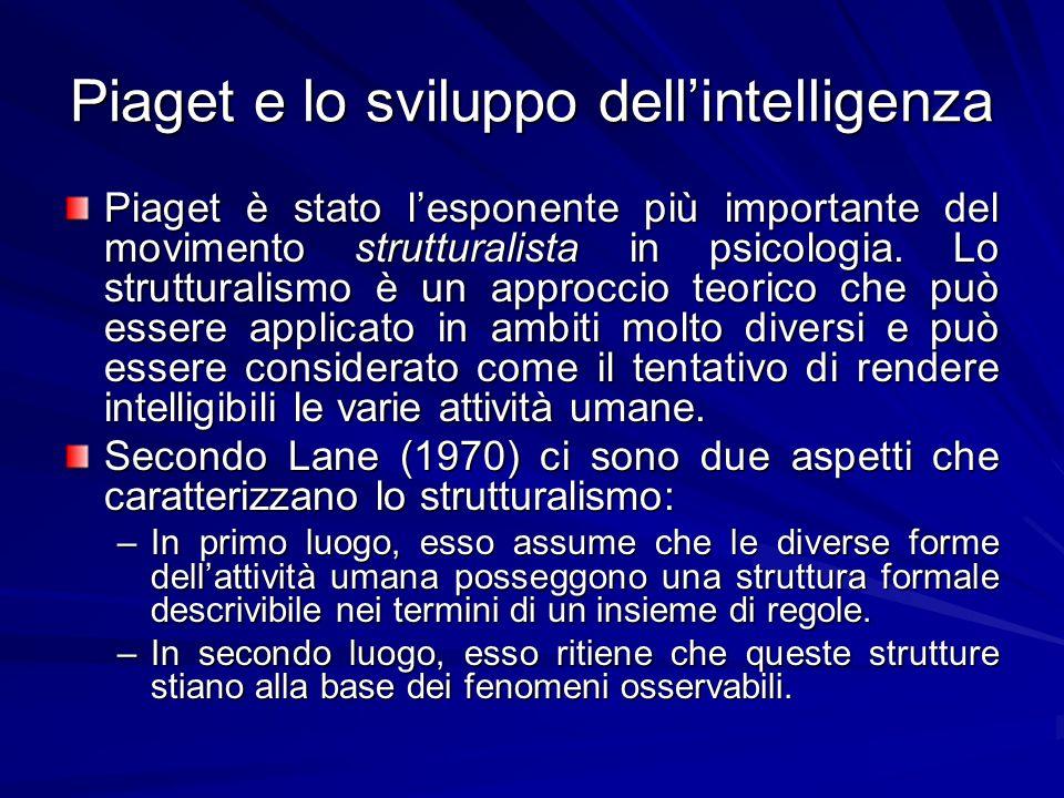 Piaget e lo sviluppo dell'intelligenza