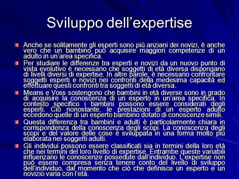 Sviluppo dell'expertise