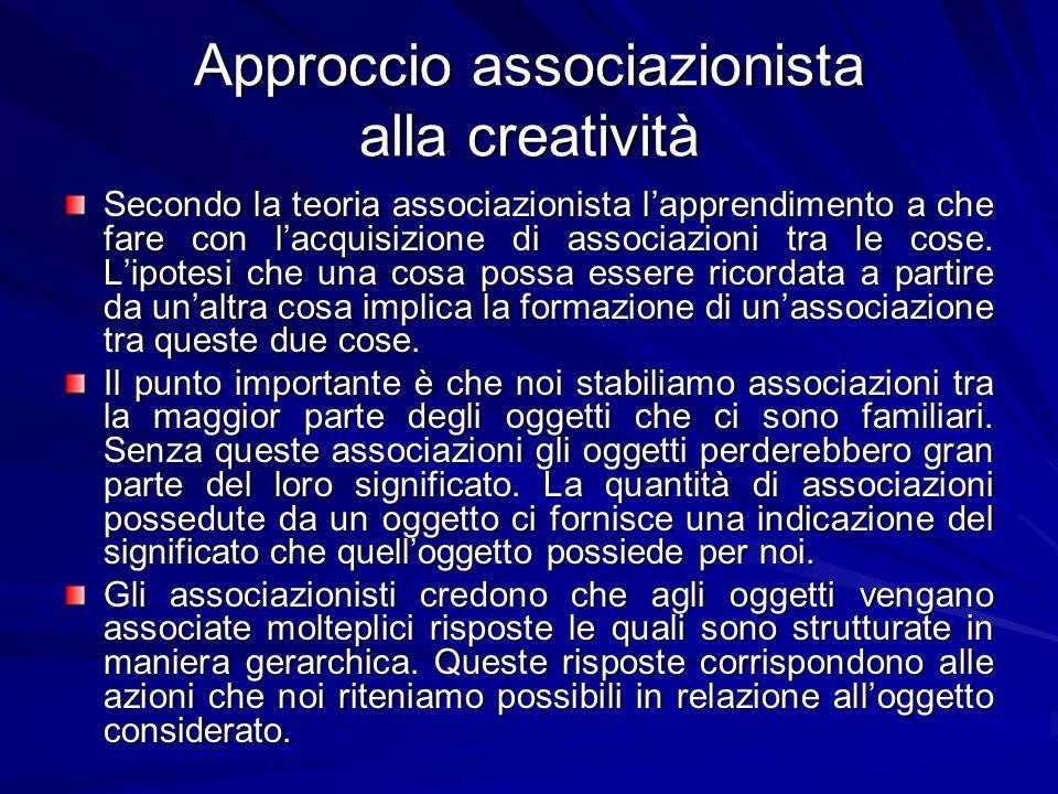 Approccio associazionista alla creatività