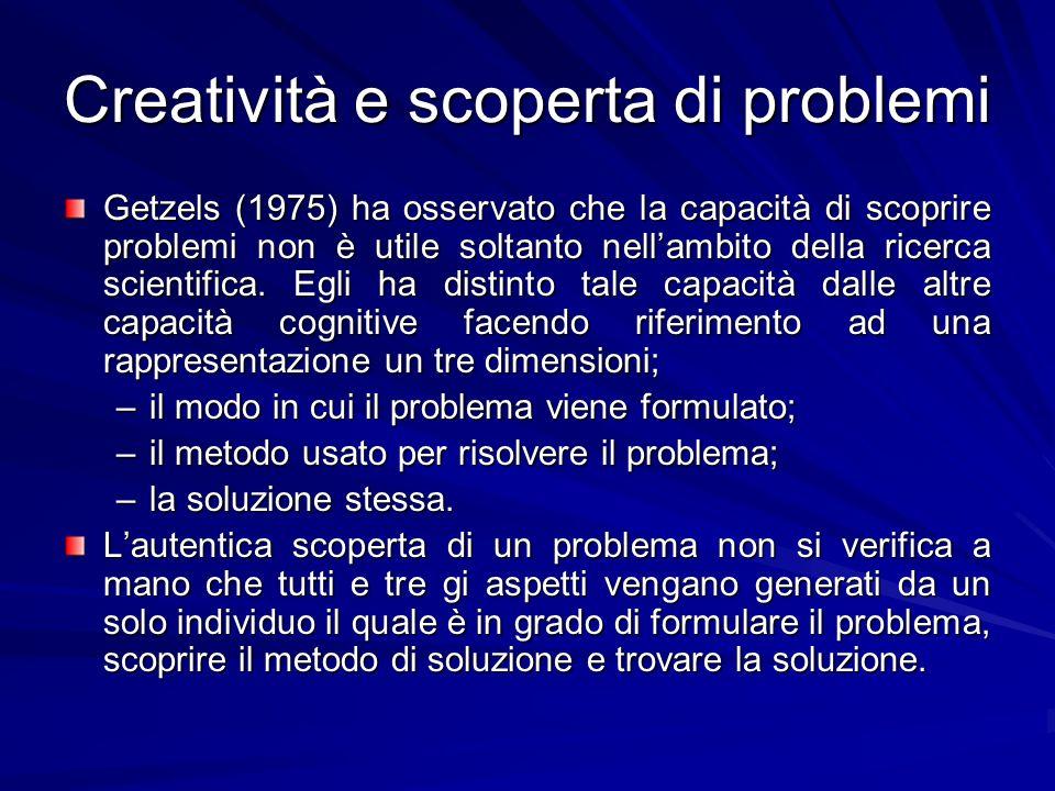 Creatività e scoperta di problemi
