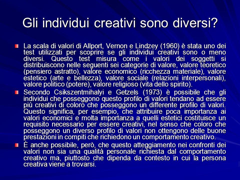 Gli individui creativi sono diversi