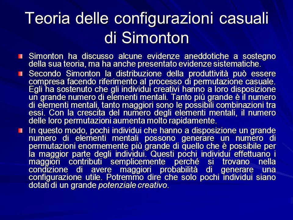 Teoria delle configurazioni casuali di Simonton