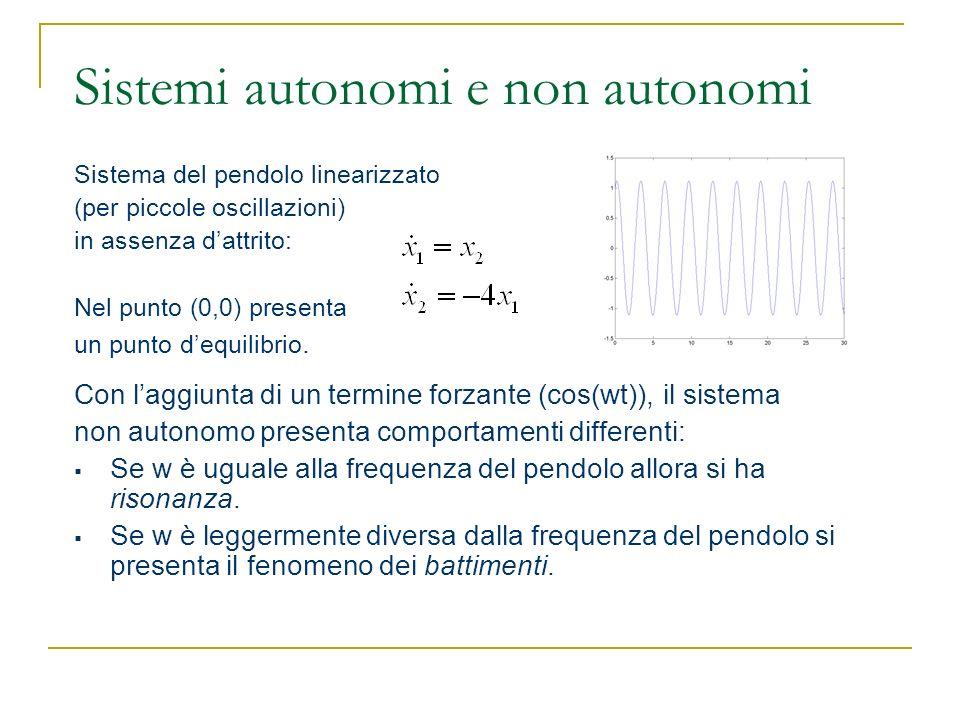 Sistemi autonomi e non autonomi