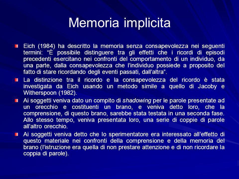 Memoria implicita