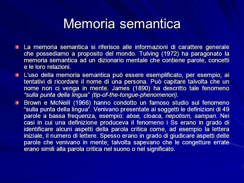 Memoria semantica