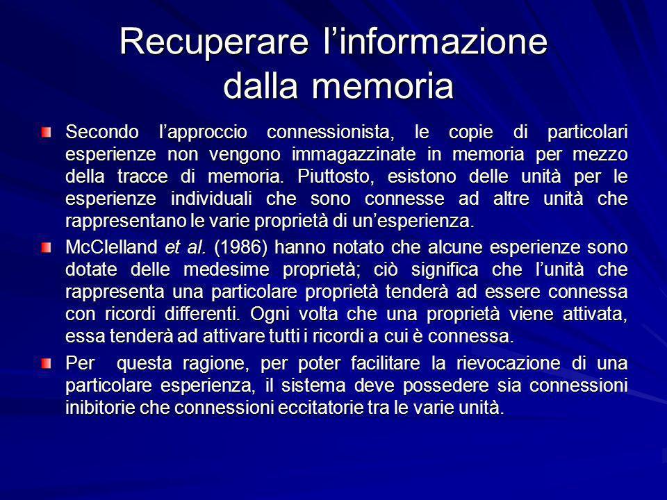 Recuperare l'informazione dalla memoria
