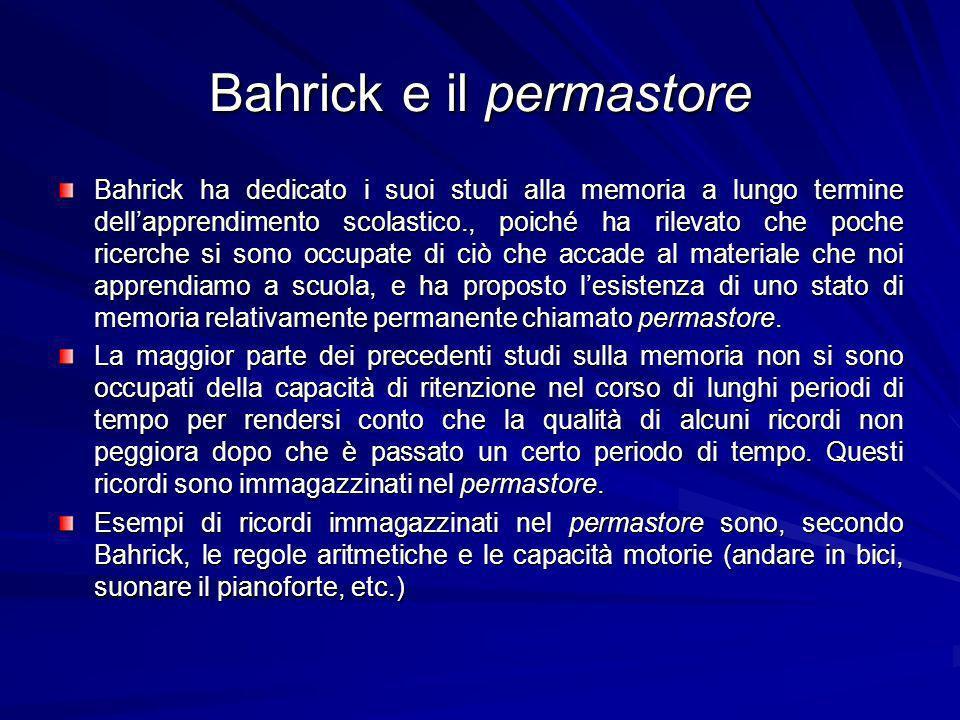 Bahrick e il permastore