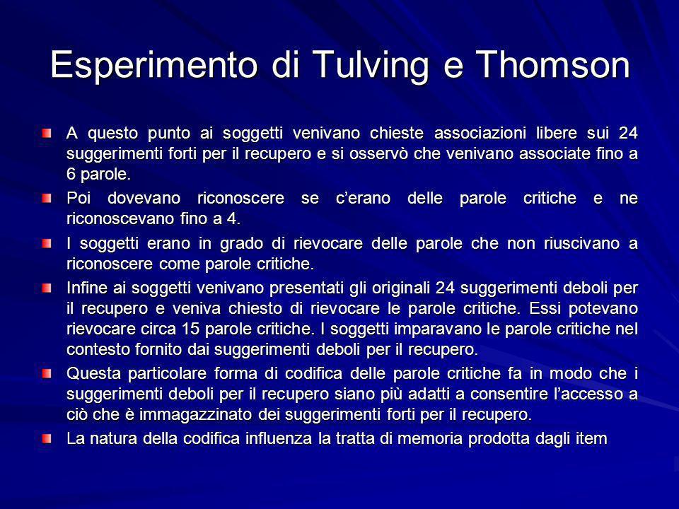 Esperimento di Tulving e Thomson