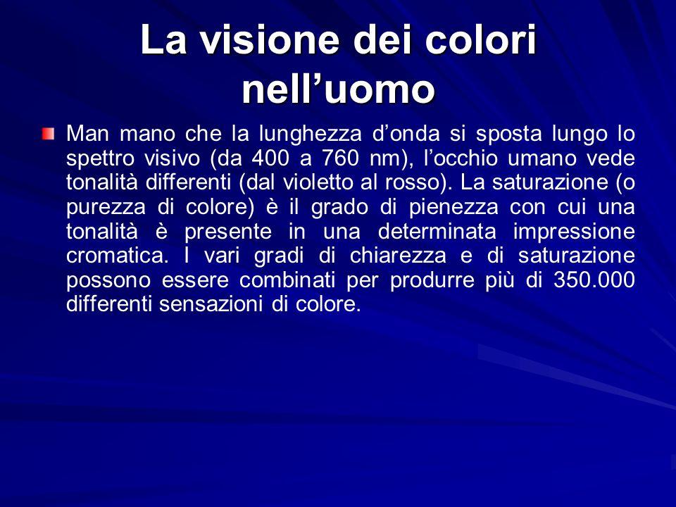 La visione dei colori nell'uomo