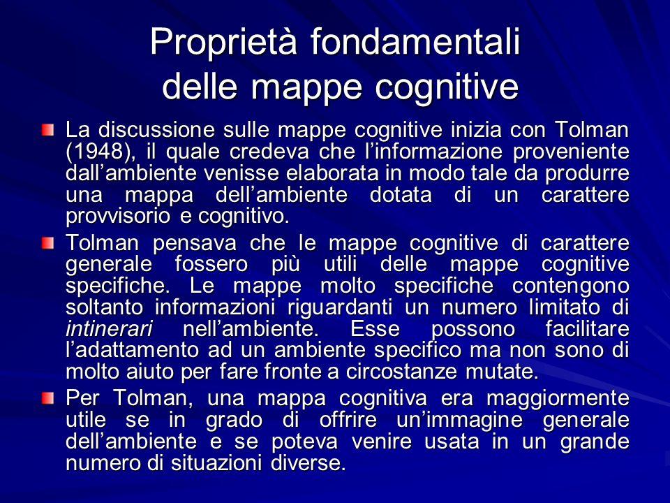 Proprietà fondamentali delle mappe cognitive