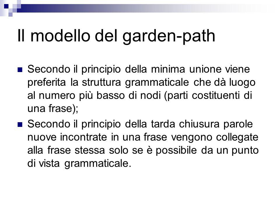 Il modello del garden-path