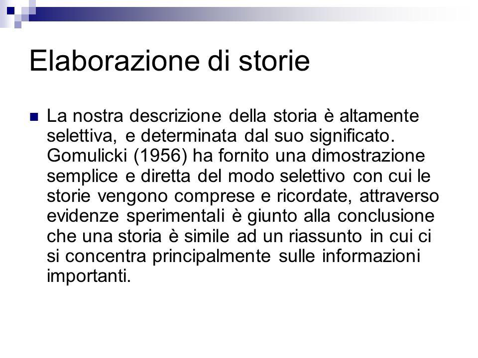 Elaborazione di storie