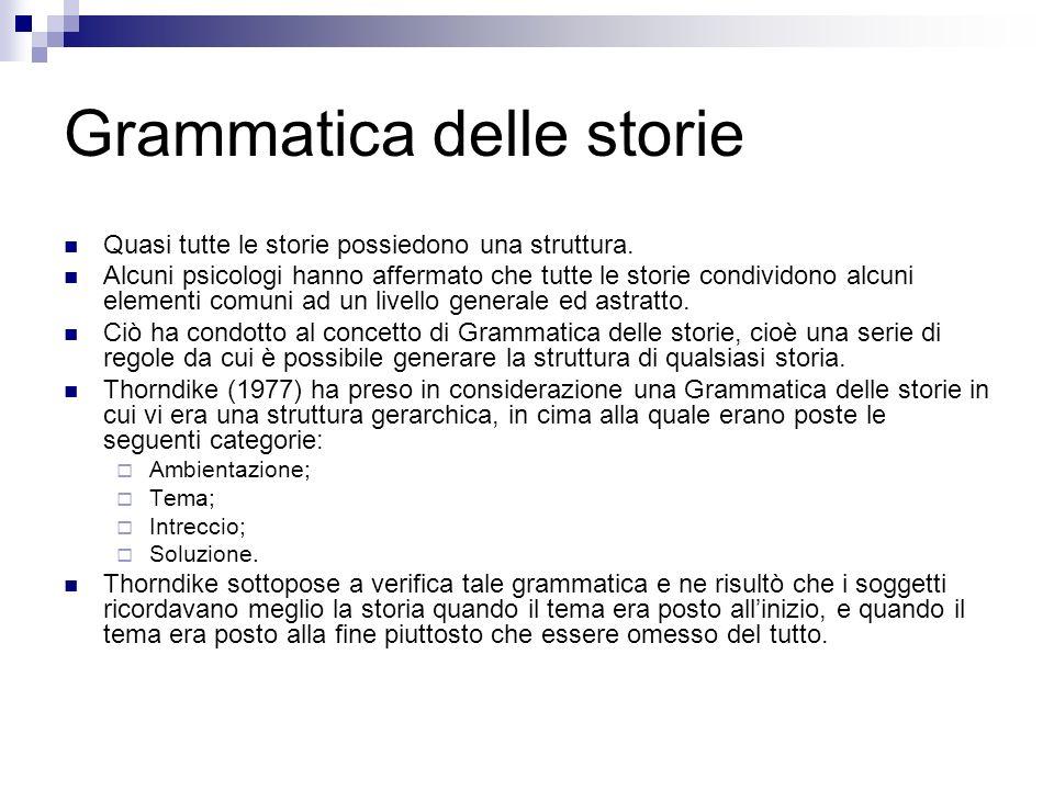 Grammatica delle storie