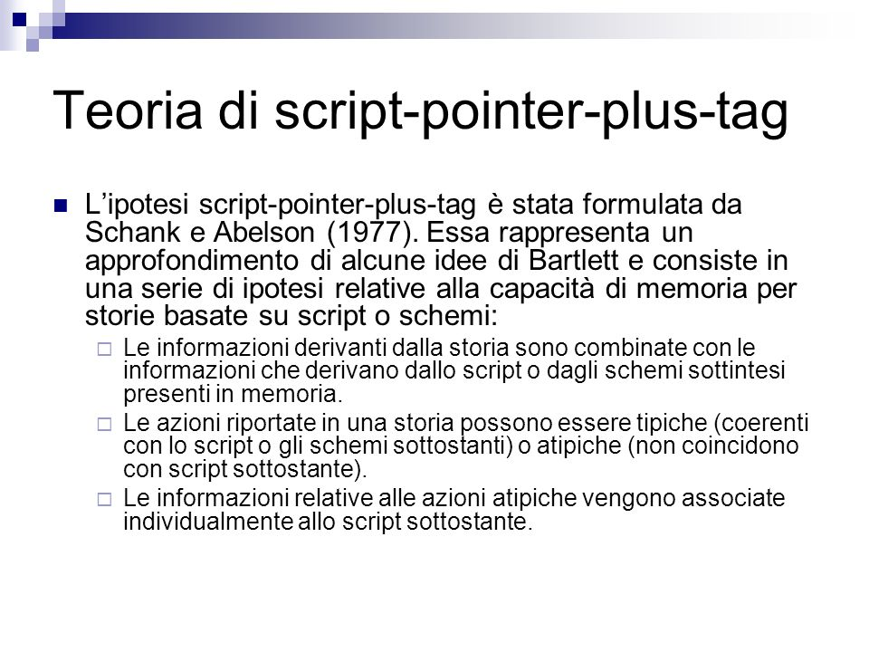 Teoria di script-pointer-plus-tag