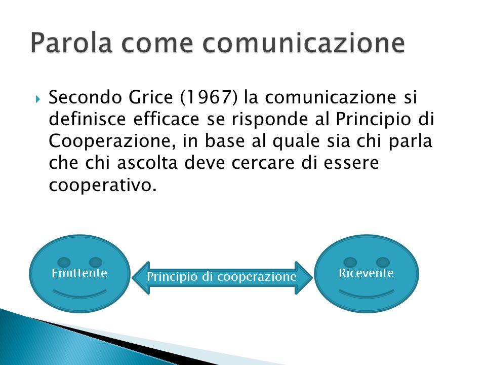 Parola come comunicazione