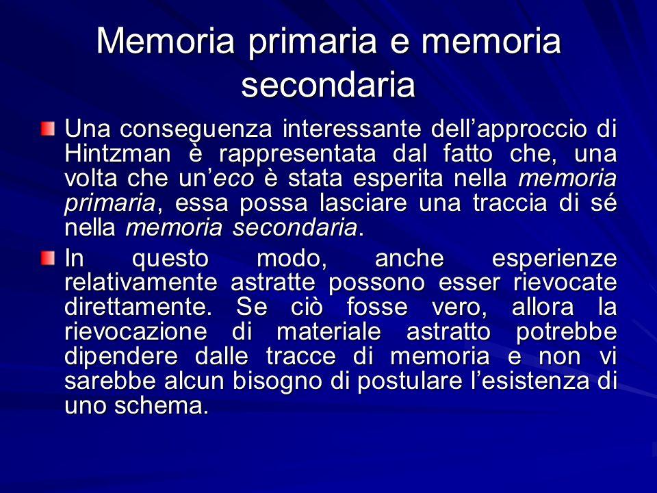 Memoria primaria e memoria secondaria
