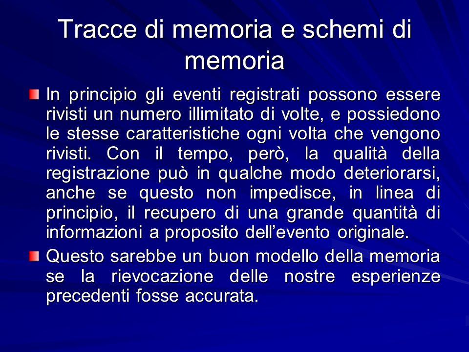 Tracce di memoria e schemi di memoria