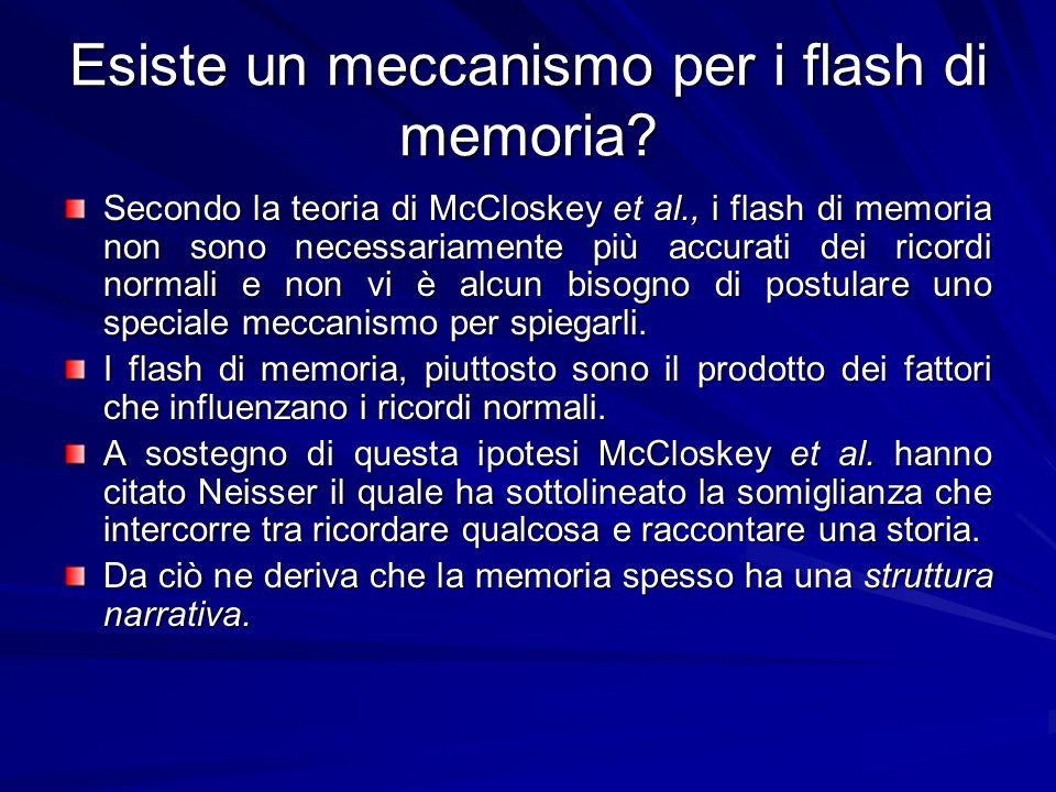 Esiste un meccanismo per i flash di memoria