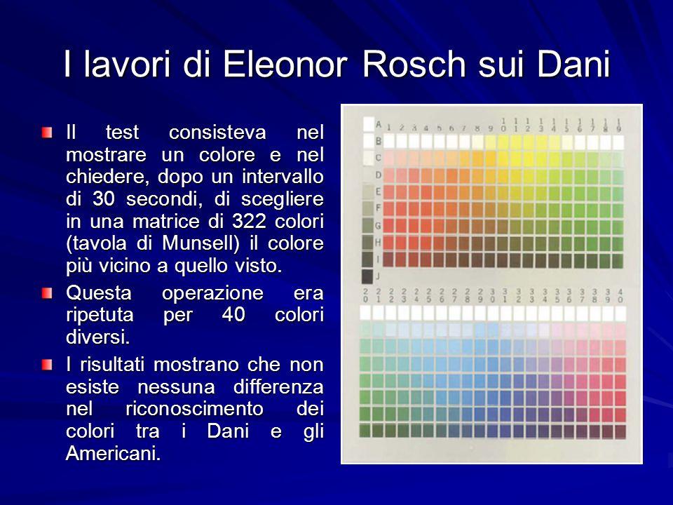 I lavori di Eleonor Rosch sui Dani