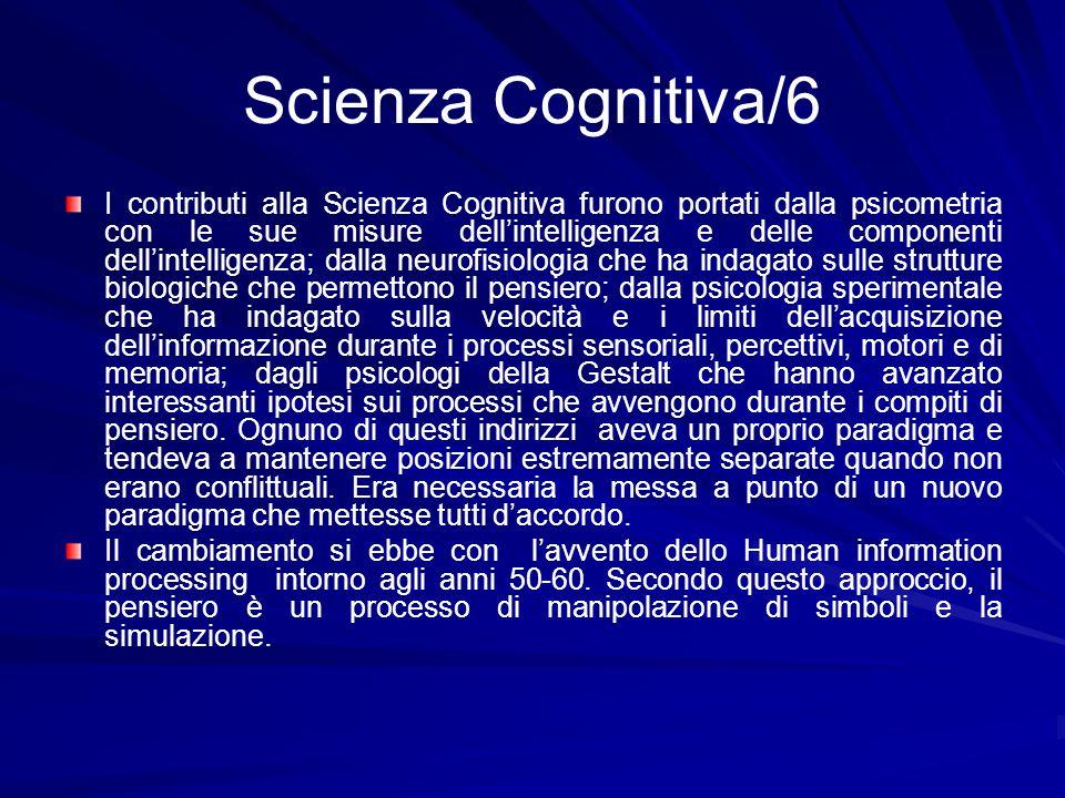 Scienza Cognitiva/6