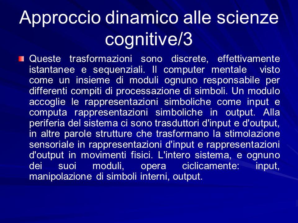 Approccio dinamico alle scienze cognitive/3