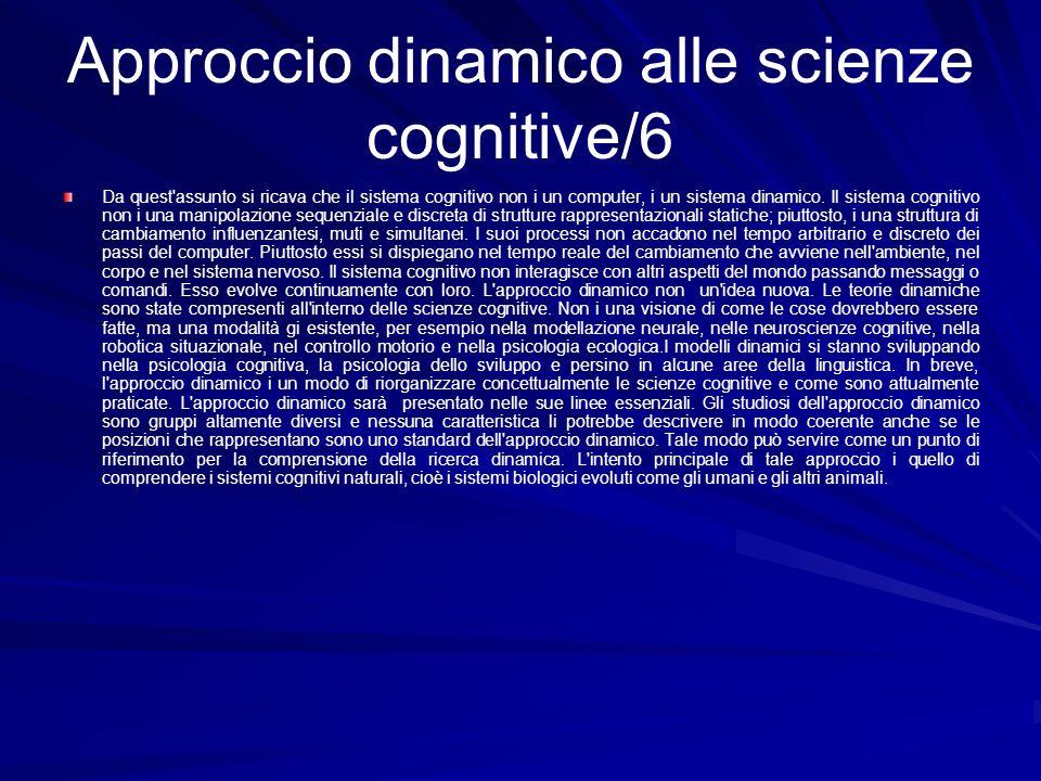 Approccio dinamico alle scienze cognitive/6