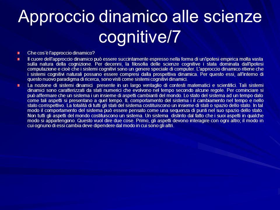 Approccio dinamico alle scienze cognitive/7