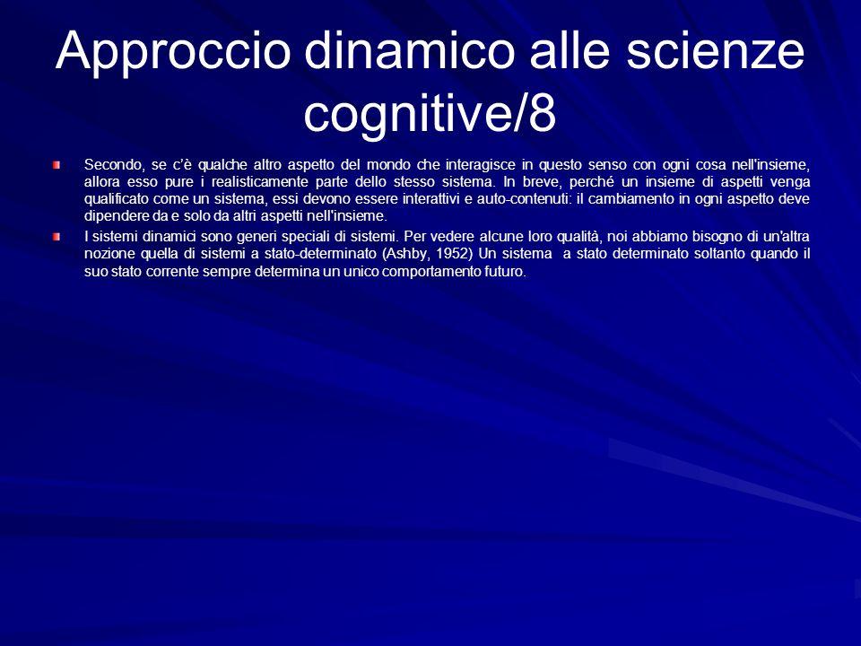 Approccio dinamico alle scienze cognitive/8