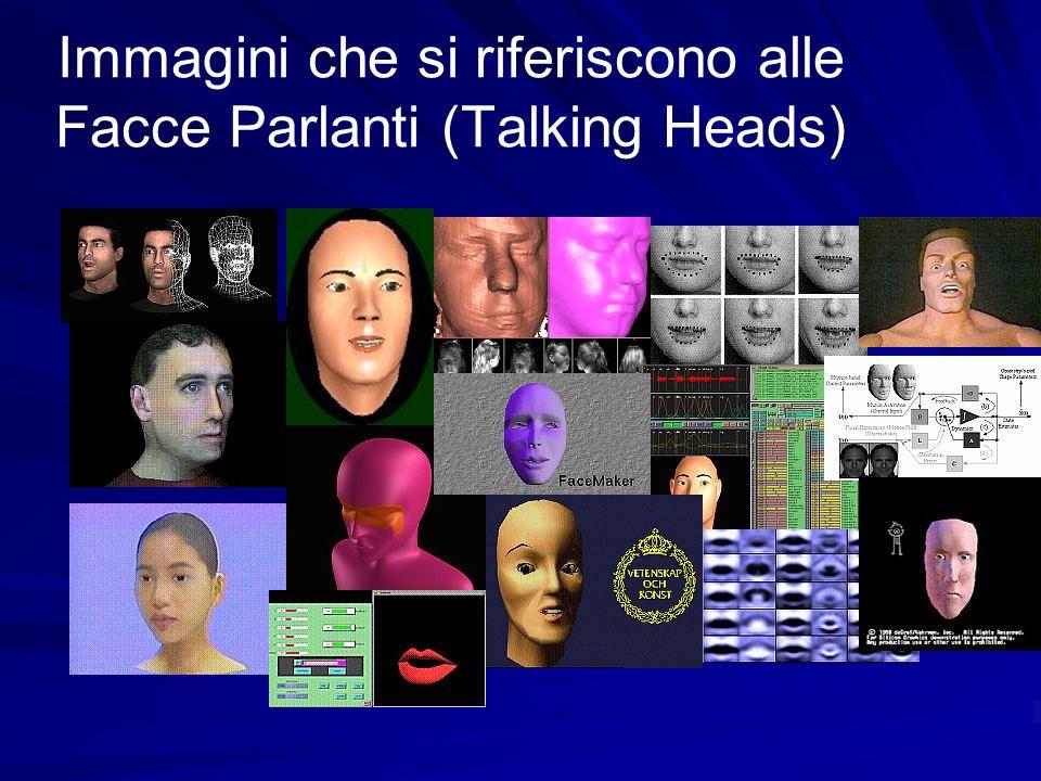 Immagini che si riferiscono alle Facce Parlanti (Talking Heads)