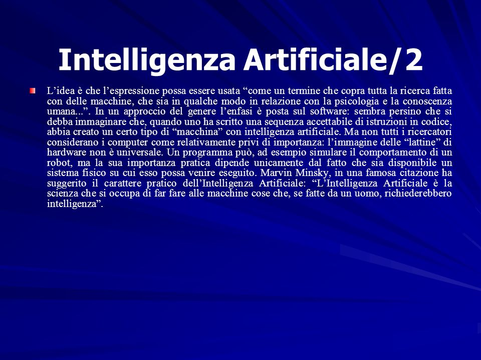 Intelligenza Artificiale/2