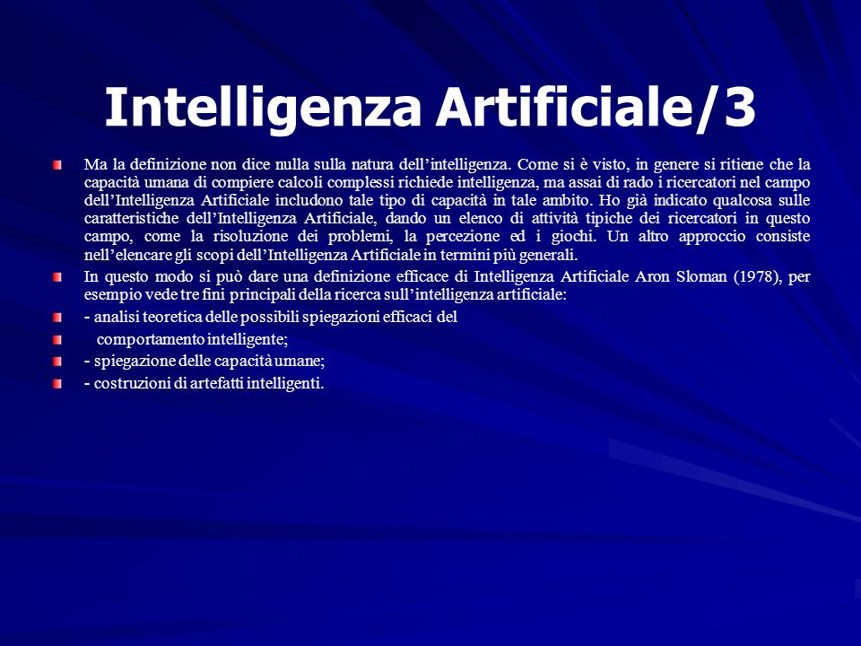 Intelligenza Artificiale/3