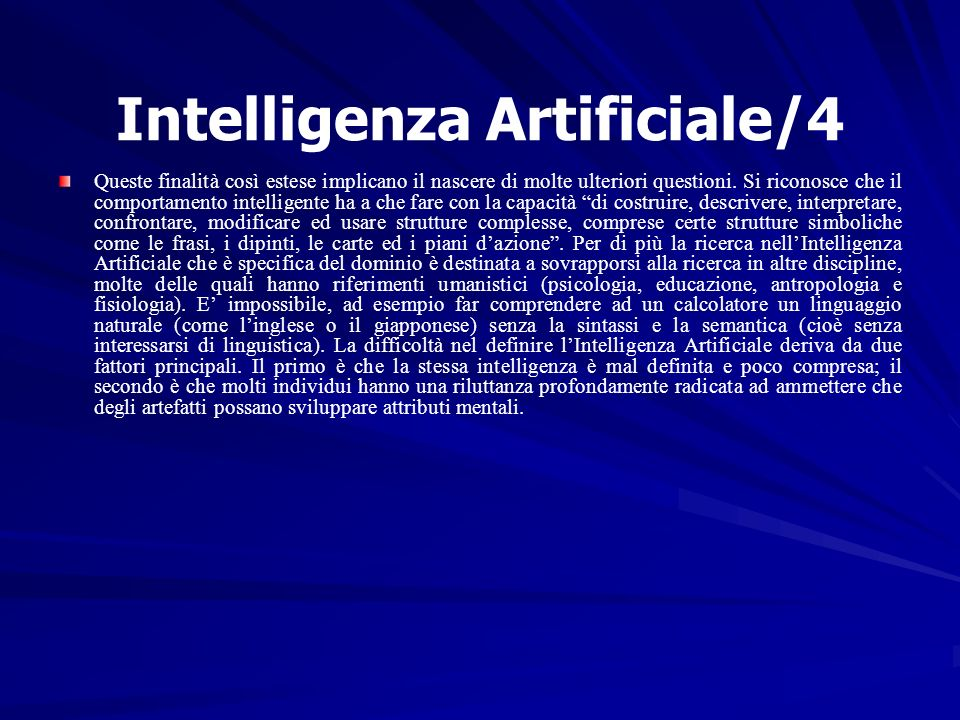 Intelligenza Artificiale/4