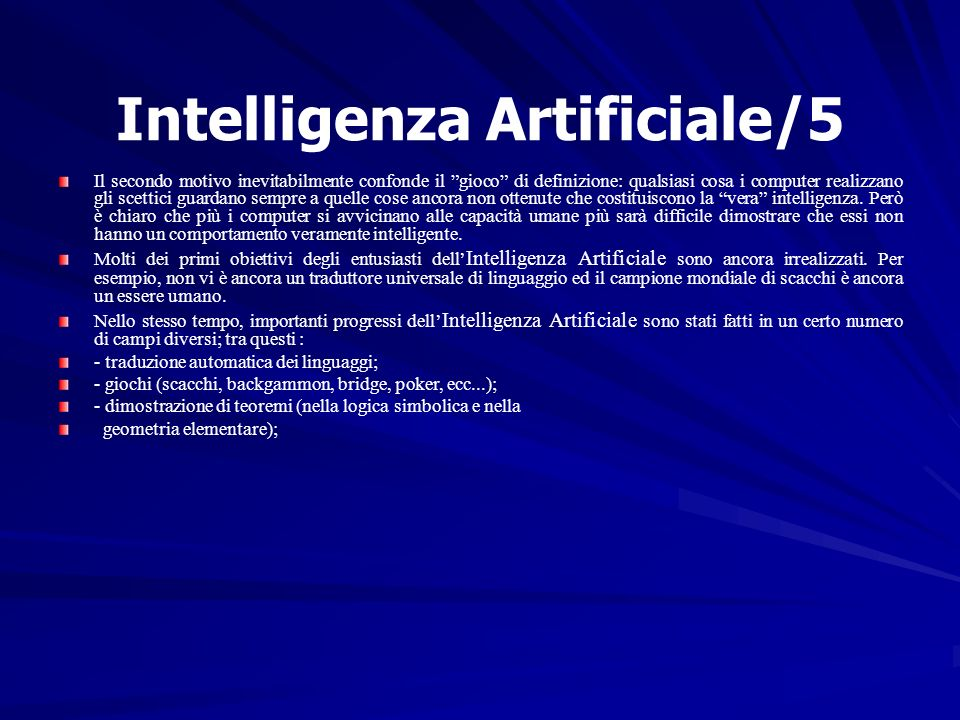 Intelligenza Artificiale/5