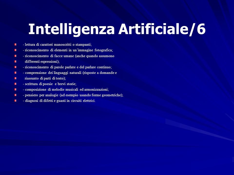 Intelligenza Artificiale/6