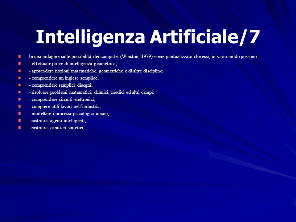 Intelligenza Artificiale/7