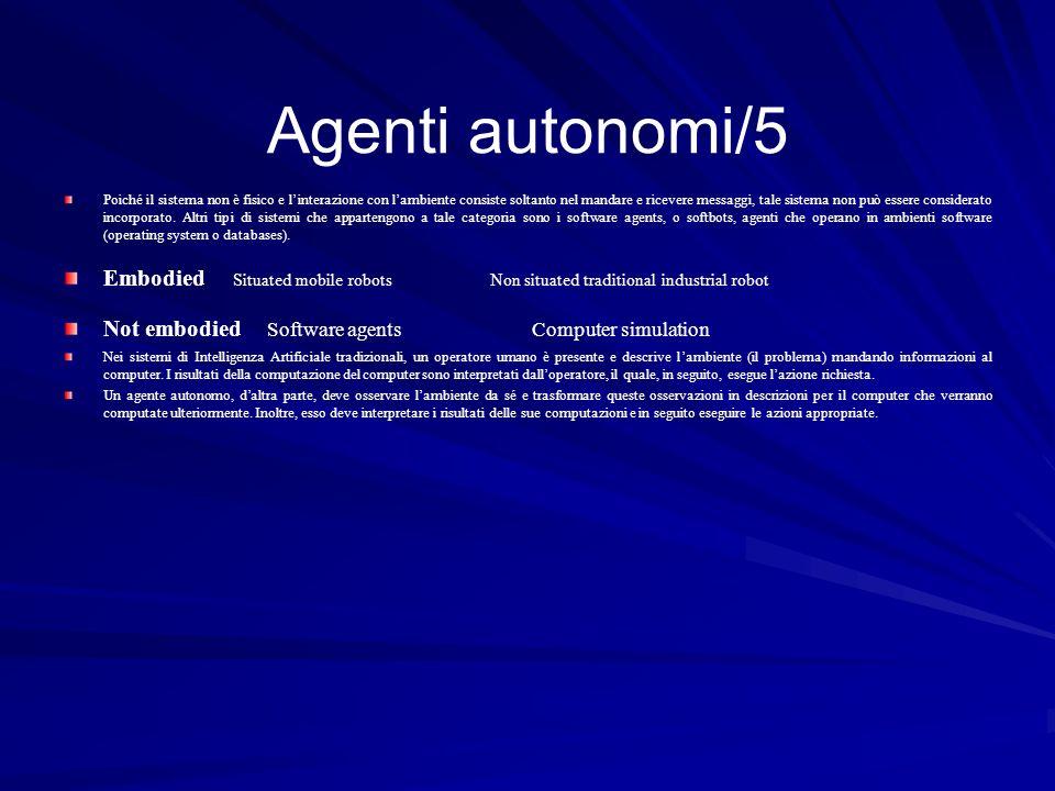 Agenti autonomi/5