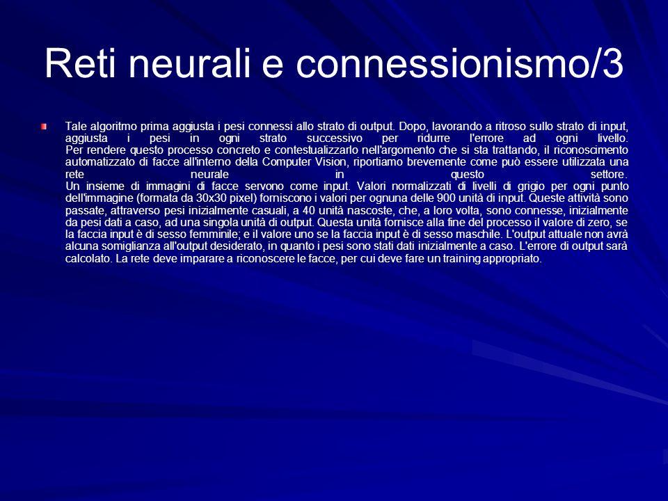 Reti neurali e connessionismo/3