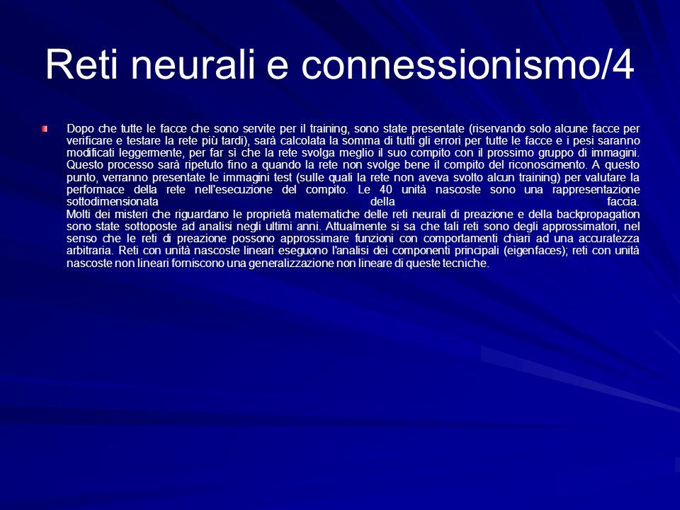 Reti neurali e connessionismo/4