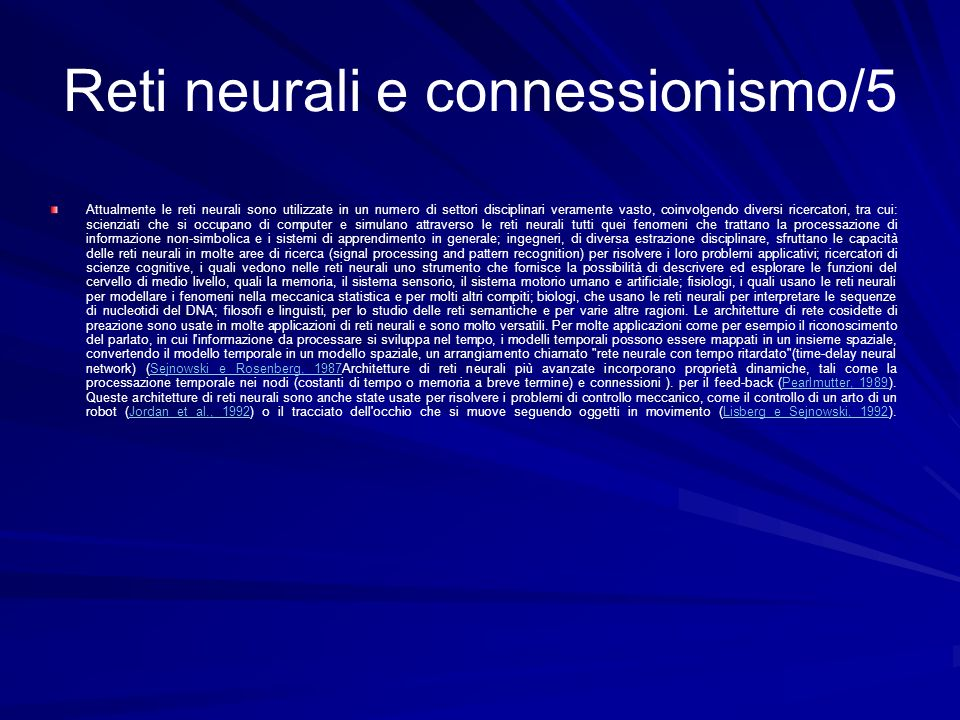 Reti neurali e connessionismo/5