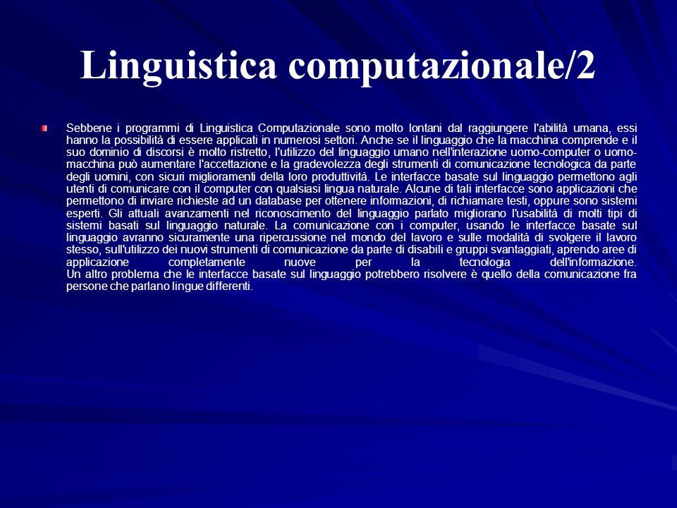 Linguistica computazionale/2