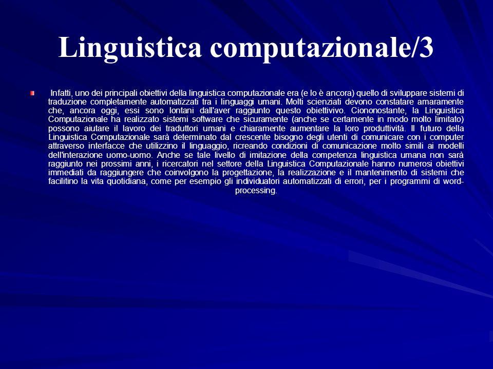Linguistica computazionale/3