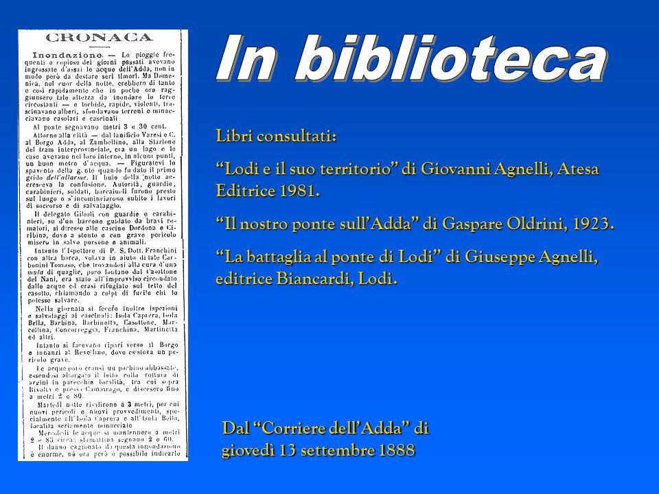 In biblioteca Libri consultati: