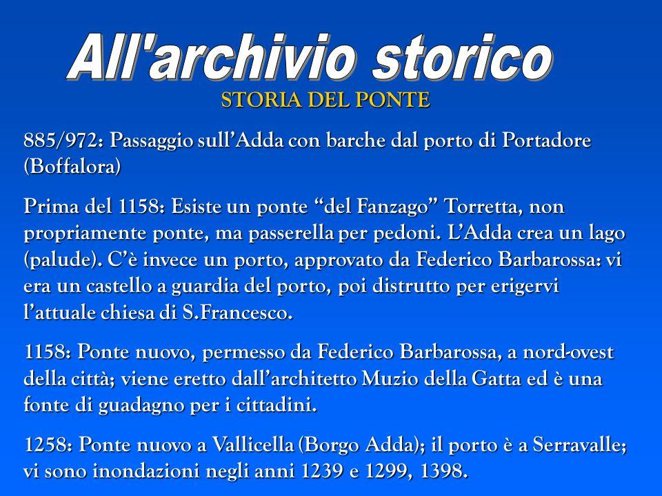 All archivio storico STORIA DEL PONTE