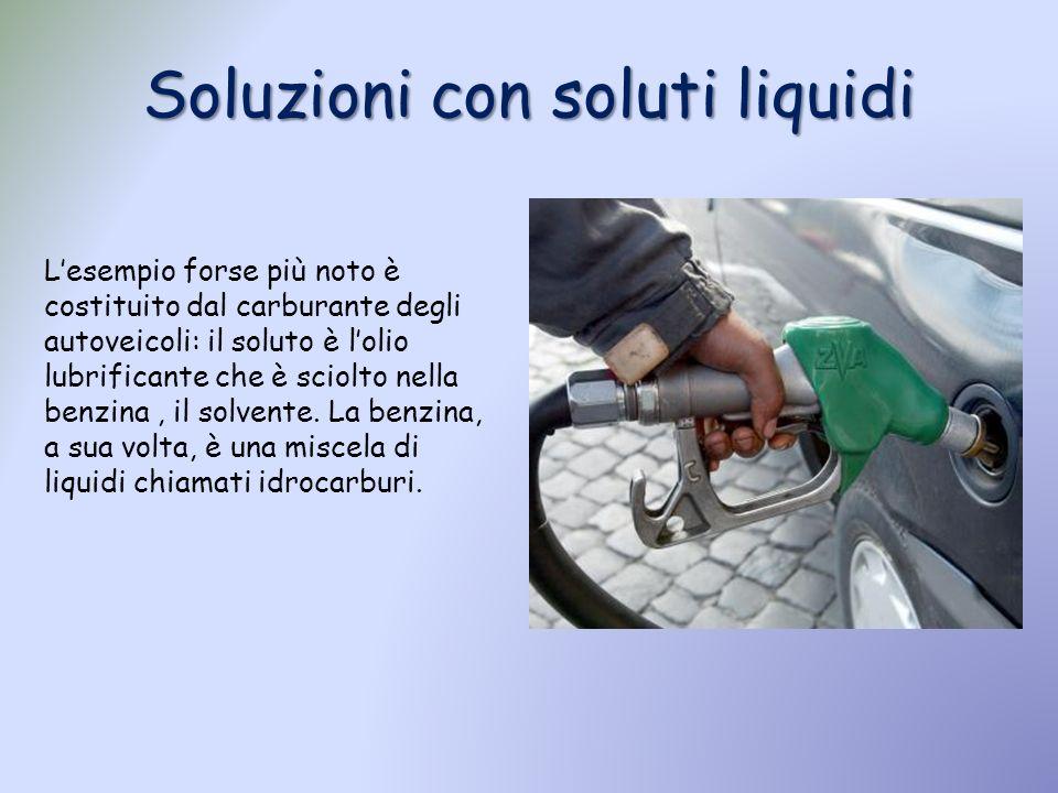 Soluzioni con soluti liquidi