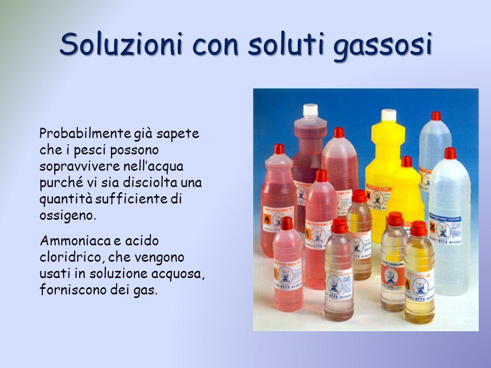 Soluzioni con soluti gassosi