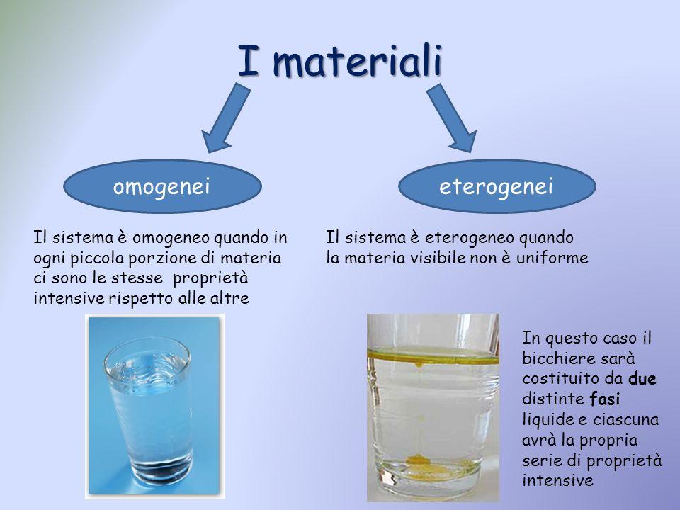 I materiali omogenei eterogenei