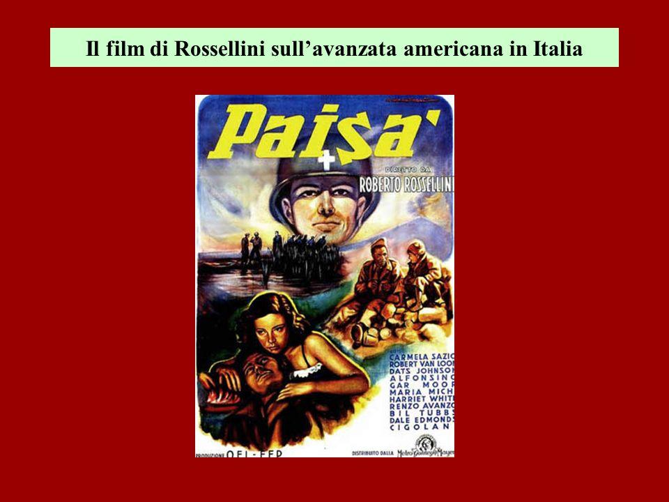 Il film di Rossellini sull'avanzata americana in Italia