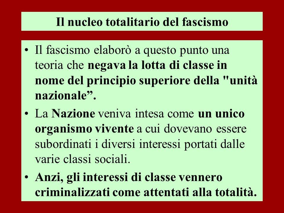 Il nucleo totalitario del fascismo
