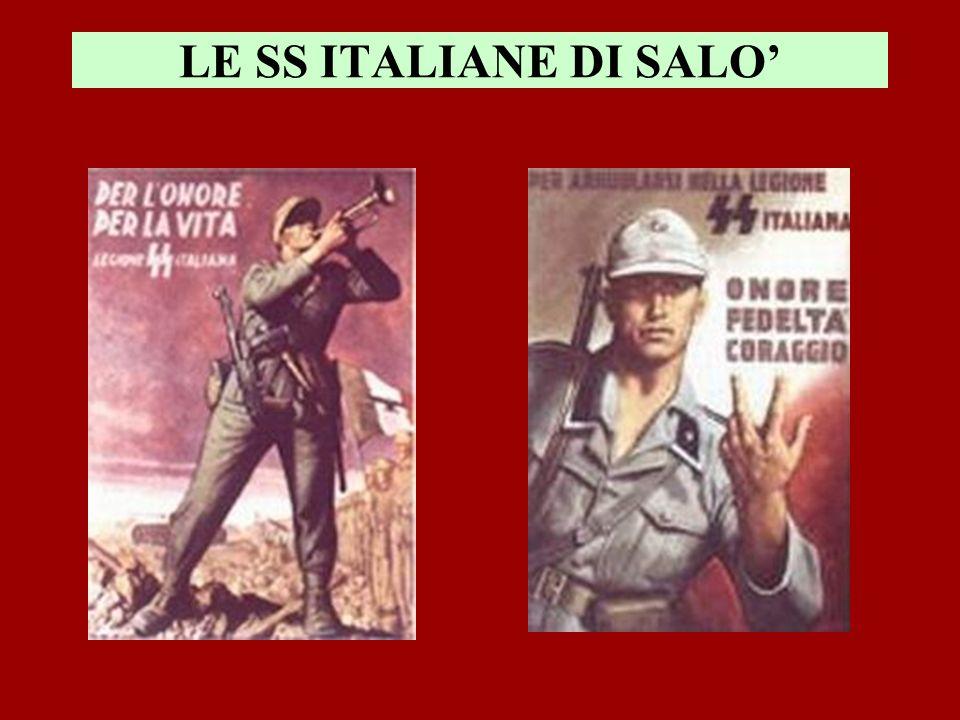 LE SS ITALIANE DI SALO'